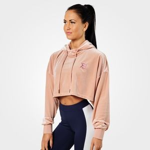 Better Bodies Chrystie Cropped Hoodie Pink Velour